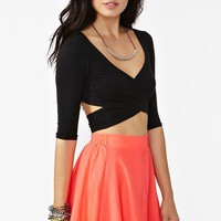 Crossed Out Crop Top