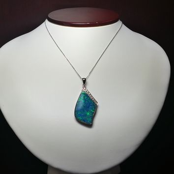 Custom Australian Opal Necklace – Special Christmas Gift For Her!!!