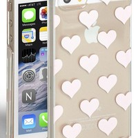 Women's kate spade new york 'clear hearts' iPhone 5 & 5s case - Metallic