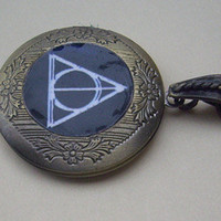 harry potter Deathly Hallows LOCKET Necklace
