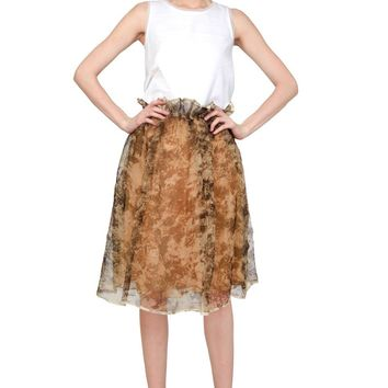 Mad About Hue Nevicata Ombre Silk Skirt