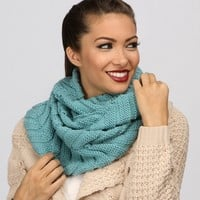 Sale-turquoise Knitted Infinity Scarf