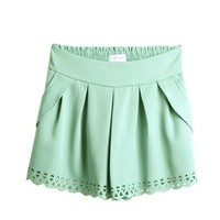 (TOBTM0088) Mint Cut Out Shorts, iAnyWear
