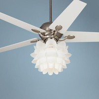 "52"" Casa Optima White Flower Ceiling Fan 