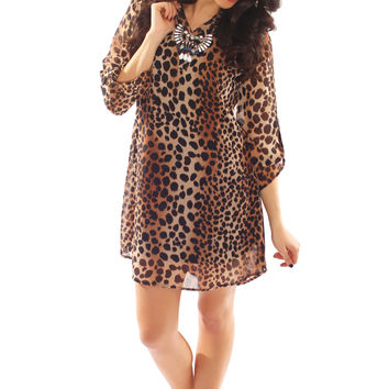 spot on leopard dress