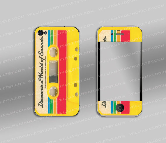 Iphone 4 cover - retro cassette