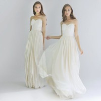 Lace Embellished Strapless Sweetheart Wedding gown - Brigitte