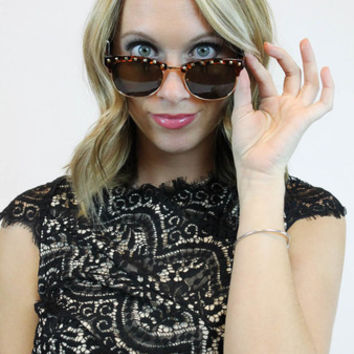 Digital Stud Sunglasses | in Black or Brown