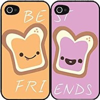 Peanut Butter and Jelly bff Set of 2 Best Friend Plastic Phone Case Back Covers iPhone 5c