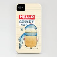 Cheeky Bird iPhone Case by Heather Dutton | Society6