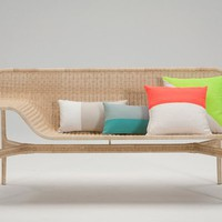 Relation Rattan Sofa by Hiroomi Tahara