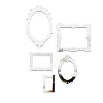 Amazon.com: Umbra Frama Mirrored Wall Decor Appliques, Set of 5: Home & Kitchen