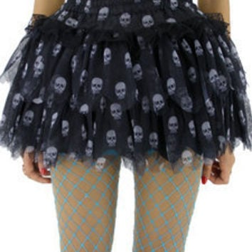 AsiaJam.com Fashion Boutique | Skull Tulle Rara Skirt