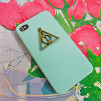 Deathly Hallows Harry Potter  blue Hard Case Cover For Apple iPhone 4,4S ,iPhone 4 Case, iPhone 4s Case, iPhone 4 Hard Case,  case-0229