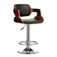 Stokey Black Walnut Chair Bar Stool