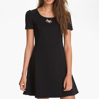 Frenchi® Flare Skirt Jersey Dress (Juniors) | Nordstrom