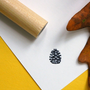 Pinecone Rubber Stamp by norajane on Etsy