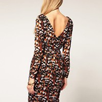 Whistles | Whistles Veronica Print Silk Dress at ASOS