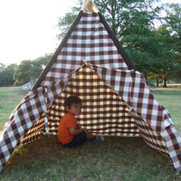 The Pink Striped Teepee Free Shipping by LittleFootTeepees on Etsy