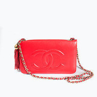 ♥ Vintage Chanel Red Flap Bag ♥ -The Salvage Room
