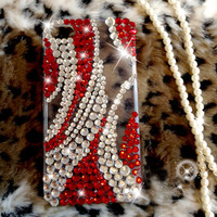 iphone case iphone cover iphone 4 cover Red diamond  bling iphone case unique iphone 4 case best iphone case bling iphone 4 back case cover