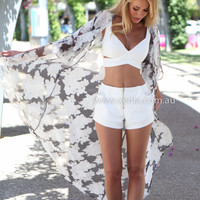 INTO THE WOODS KIMONO , DRESSES, TOPS, BOTTOMS, JACKETS & JUMPERS, ACCESSORIES, $10 SPRING SALE, PRE ORDER, NEW ARRIVALS, PLAYSUIT, GIFT VOUCHER, $30 AND UNDER SALE, SWIMWEAR,,Print Australia, Queensland, Brisbane