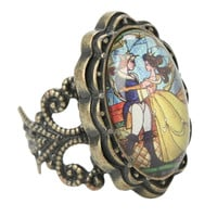 Disney Beauty And The Beast Stained Glass Ring