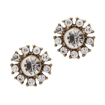 Panacea Crystal Medallion Stud Earrings at Von Maur