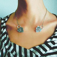 Unique Vintage Leaf invisible tatoo like necklace by anatego
