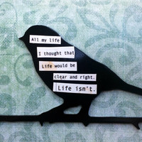 An Uncertain Life Fridge Art Magnet