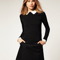 ASOS | ASOS Jumper With Lace Collar at ASOS