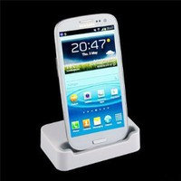 Amazon.com: White Desktop Sync Charger Dock Station / Cradle For Samsung Galaxy SIII S3 i9300: Cell Phones & Accessories