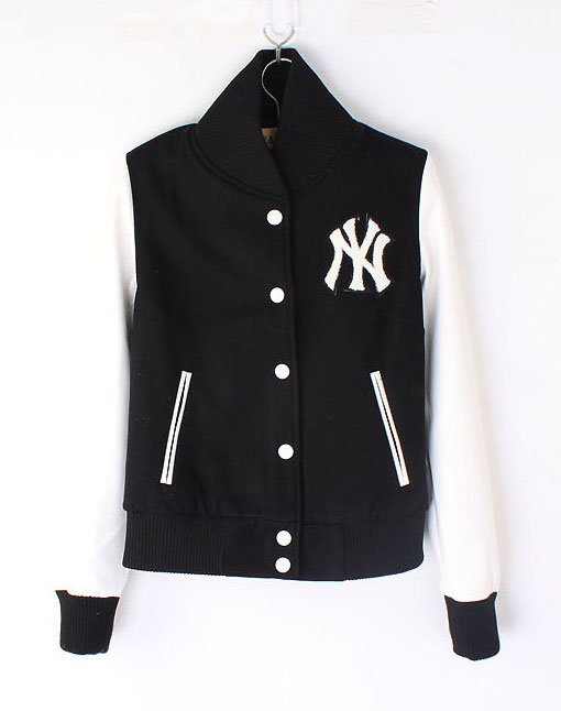 Womens NY Yankee Baseball jacket Black White