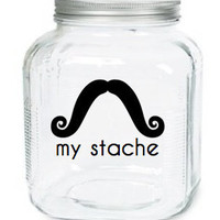 My Stache Jar The Yosemite Sam Mustache by olivetreemonograms