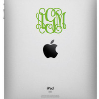 iPad Monogram 3 inch Decal Ships Fast by olivetreemonograms