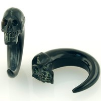 Pair of Horn Skull Claws - HXB13 - SteelNavel.com
