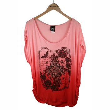 Katydid Roses Cross Women's Dolman T-Shirt