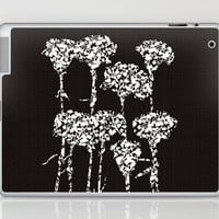 Carnations_B&W Laptop & iPad Skin by Garima Dhawan | Society6