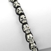 Skull Knit Bracelet  - Retro, Indie and Unique Fashion