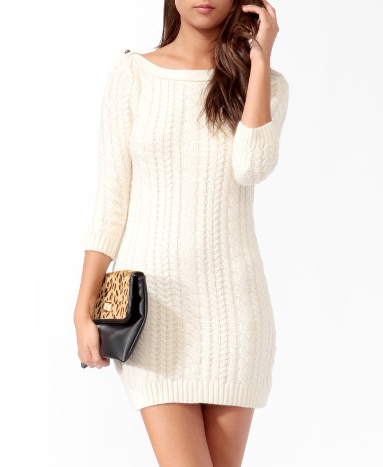 Essential Cable Knit Sweater Dress from Forever 21 | Dresses