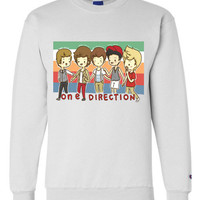One Direction Cartoon Sweatshirt Crewneck OR Hoodie
