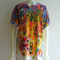 Unisex Art Deco Colour Splash Tshirt