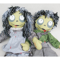 Creepy GoGo Ghoulies Zombie Rag Doll Boy & Girl by ArtwichStudios