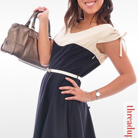 Thread Up, Mimi! - Office Wear Online — Sweetheart Two-Tone Dress