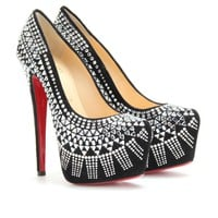 mytheresa.com -  Christian Louboutin - DECORA 160 PLATFORM PUMPS  - Luxury Fashion for Women / Designer clothing, shoes, bags