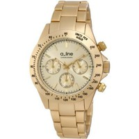 a_line Women&#x27;s 20050-YG Amore Chronograph Gold Tone Aluminum Watch - designer shoes, handbags, jewelry, watches, and fashion accessories | endless.com