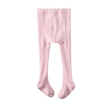 Classic Ribbed Rose Pink Tights