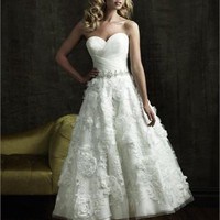 Ankle Length Gown Sweeyheart Neckline  Wedding Dress  BWD015 -Shop offer 2012 wedding dresses,prom dresses,party dresses for girls on sale. #Category#