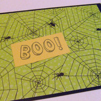 Stamped Spiderwebs Happy Halloween Note Card