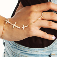 cross-hand-bracelet GOLD - GoJane.com